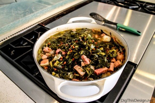 Southern Collard Greens, with ham.
