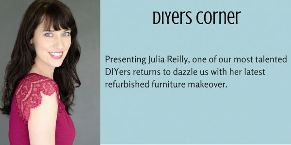 Julia Reilly, one of our most talented DIYers, returns to dazzle us with another one of her refurbished furniture pieces.