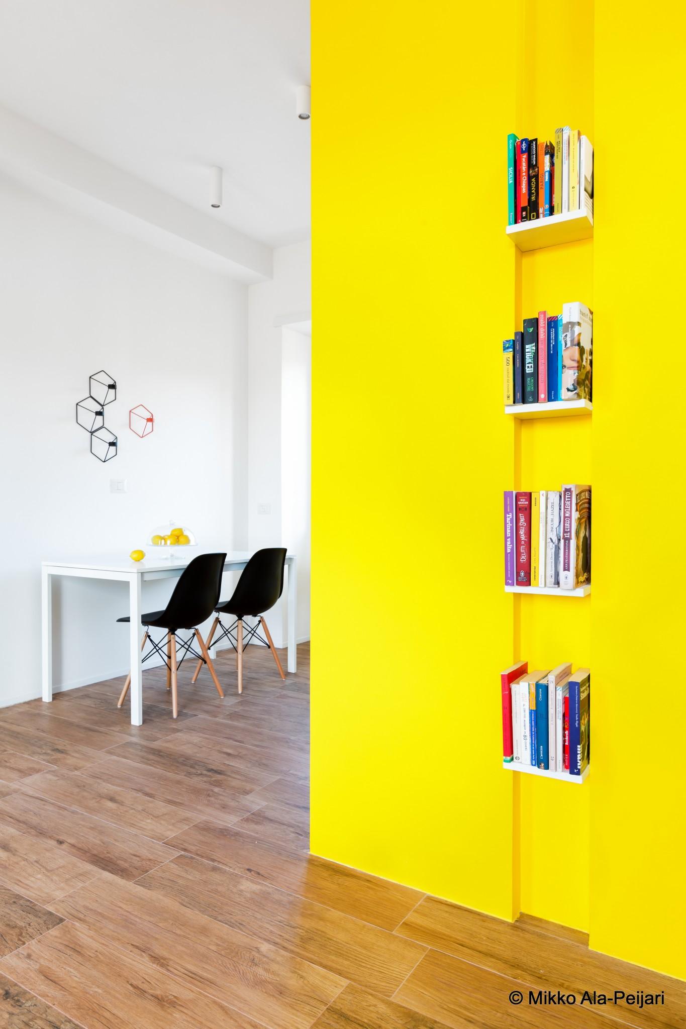Bright colored wall by Maurizio Giovanoni.