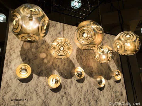 Furniture trends - metal lighting fixtures.