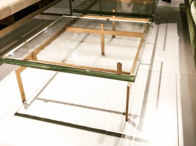 Furniture trends at ICFF - glass coffee table.
