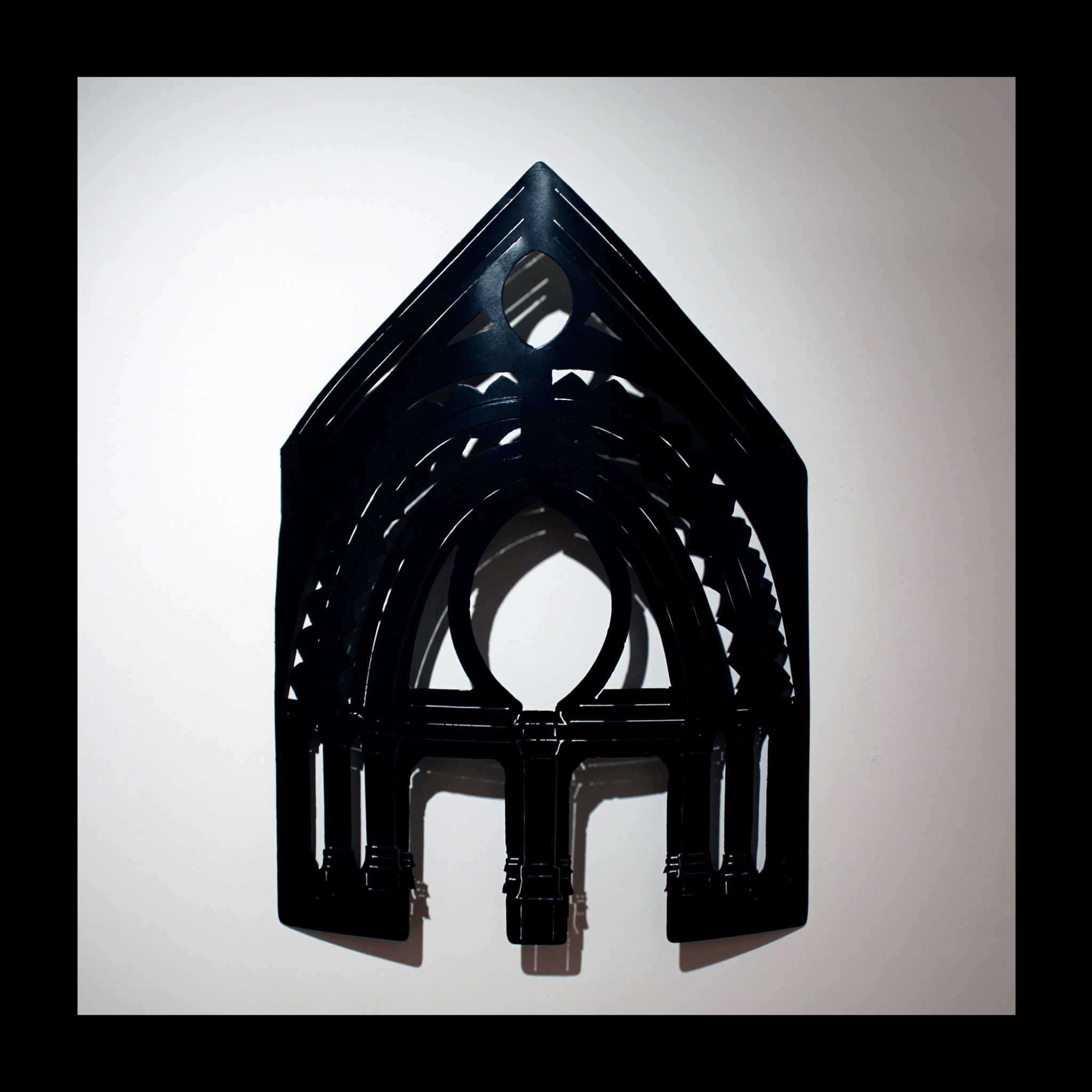 Steel wall hanging by Aisling Millar, St. Pete's Tympanum.
