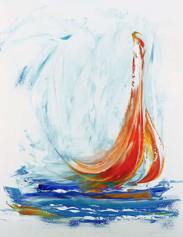 Lisa Jill Allison - painting of sailboat