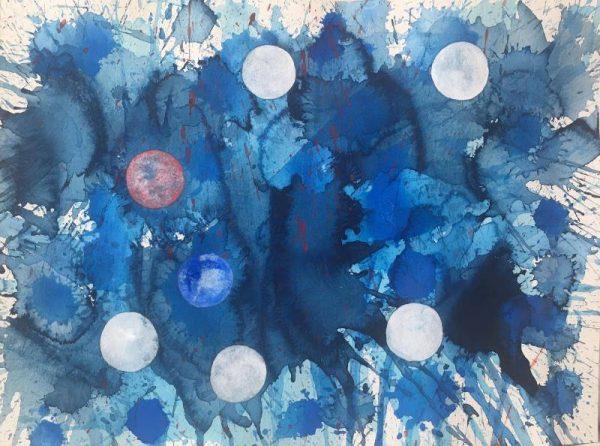Steven Manolis - Blue Abstract
