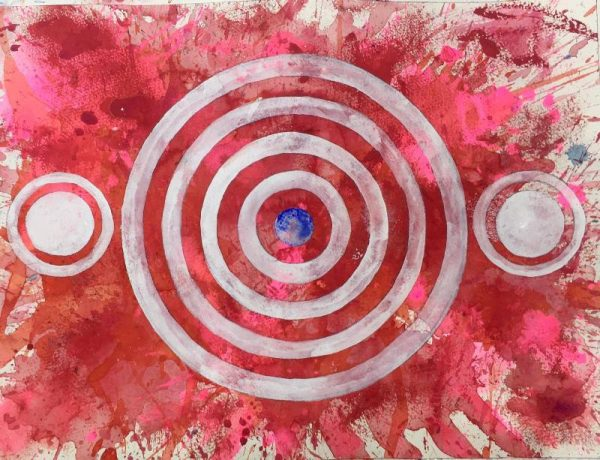 Steven Manolis - Red Abstract America Series