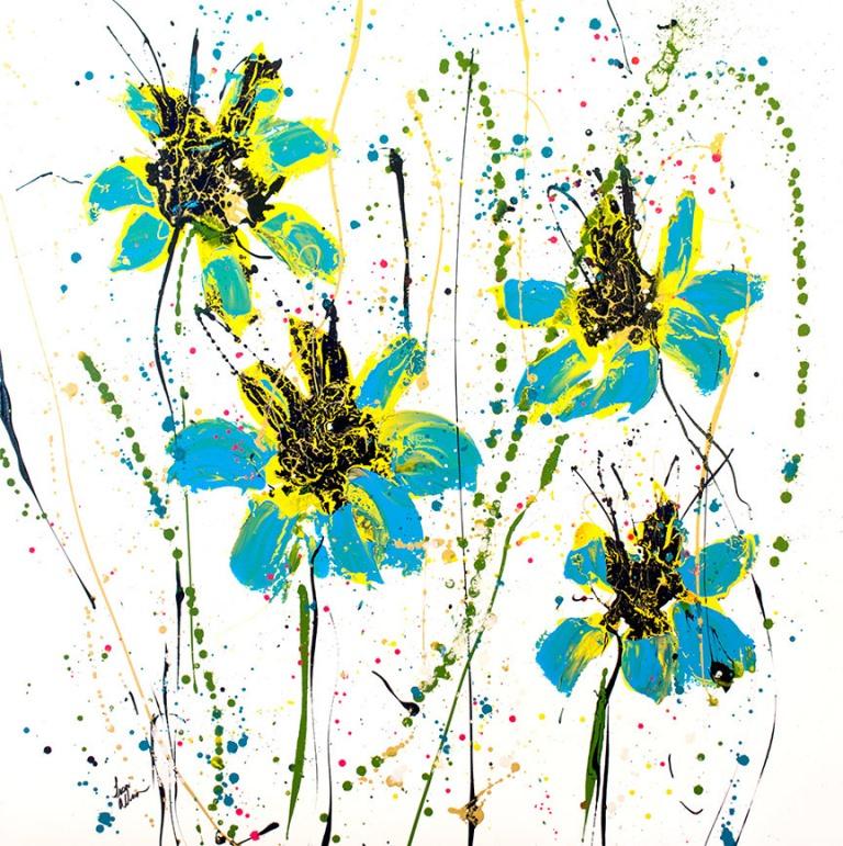 Lisa Jill Allison - blue flower painting