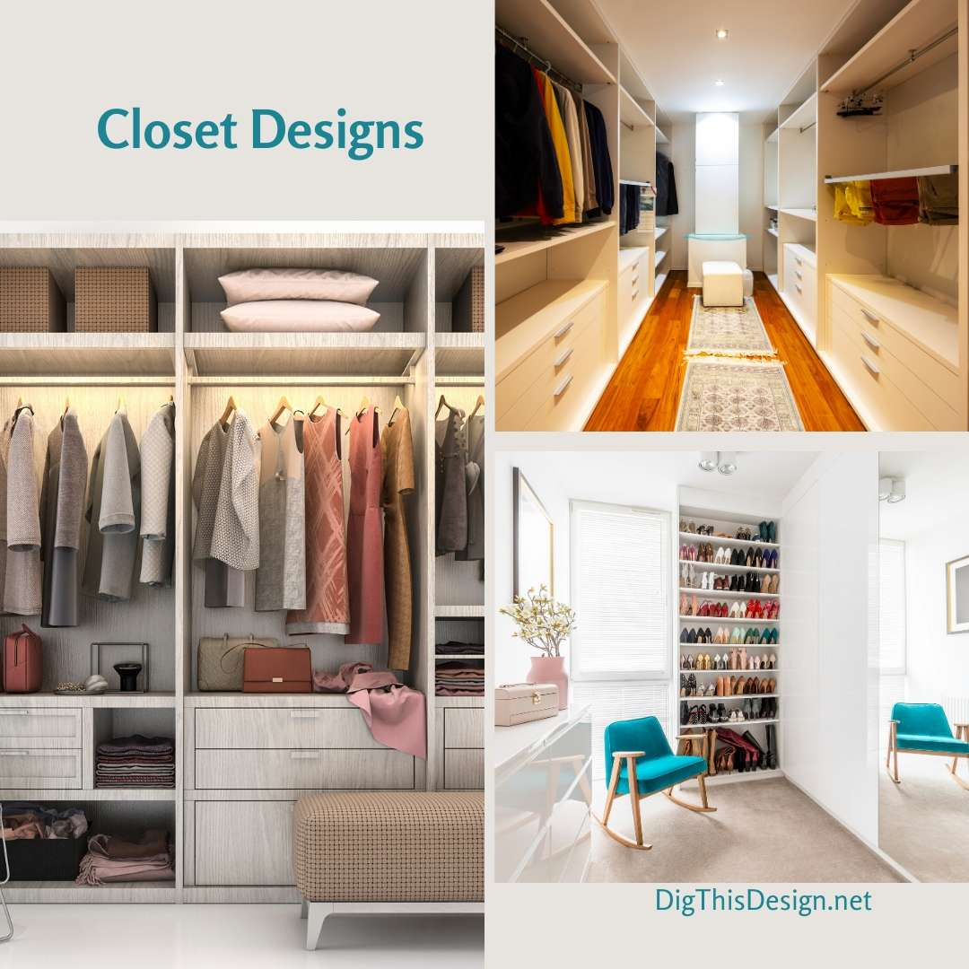 Closet Designs - 5 Designs That Work