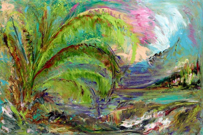 Lisa Jill Allison - seascape palmtree