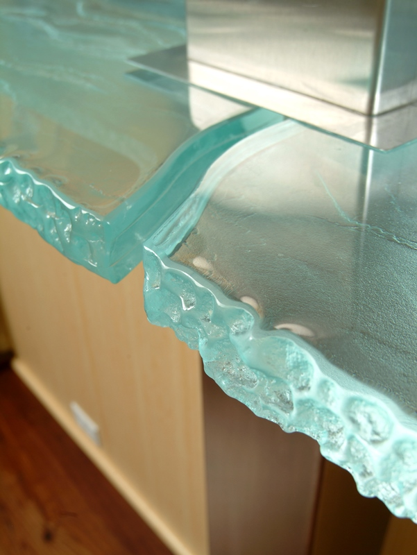 Glass - glass countertop details
