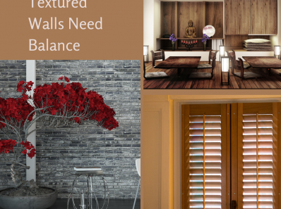 Textured Walls Need Balance