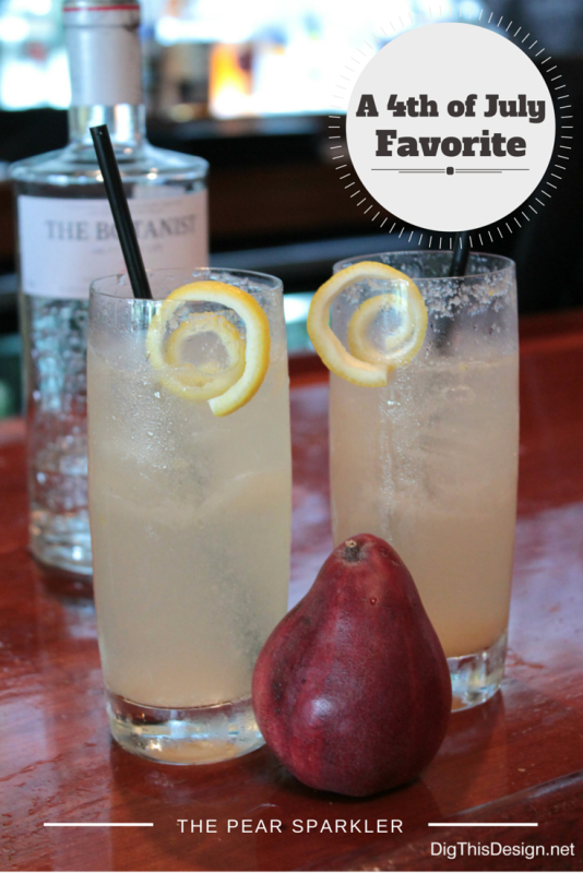 Healthy Summer Cocktails - 4th july pear sparkler