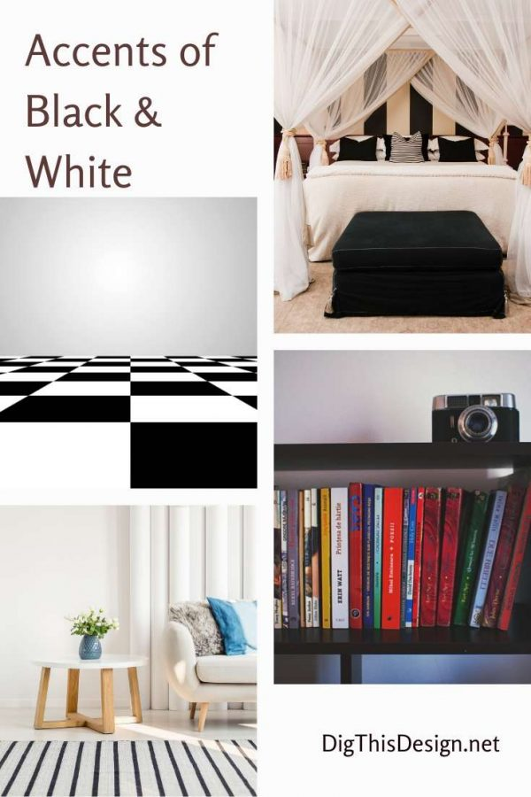 Accents of Black & White Home Decor