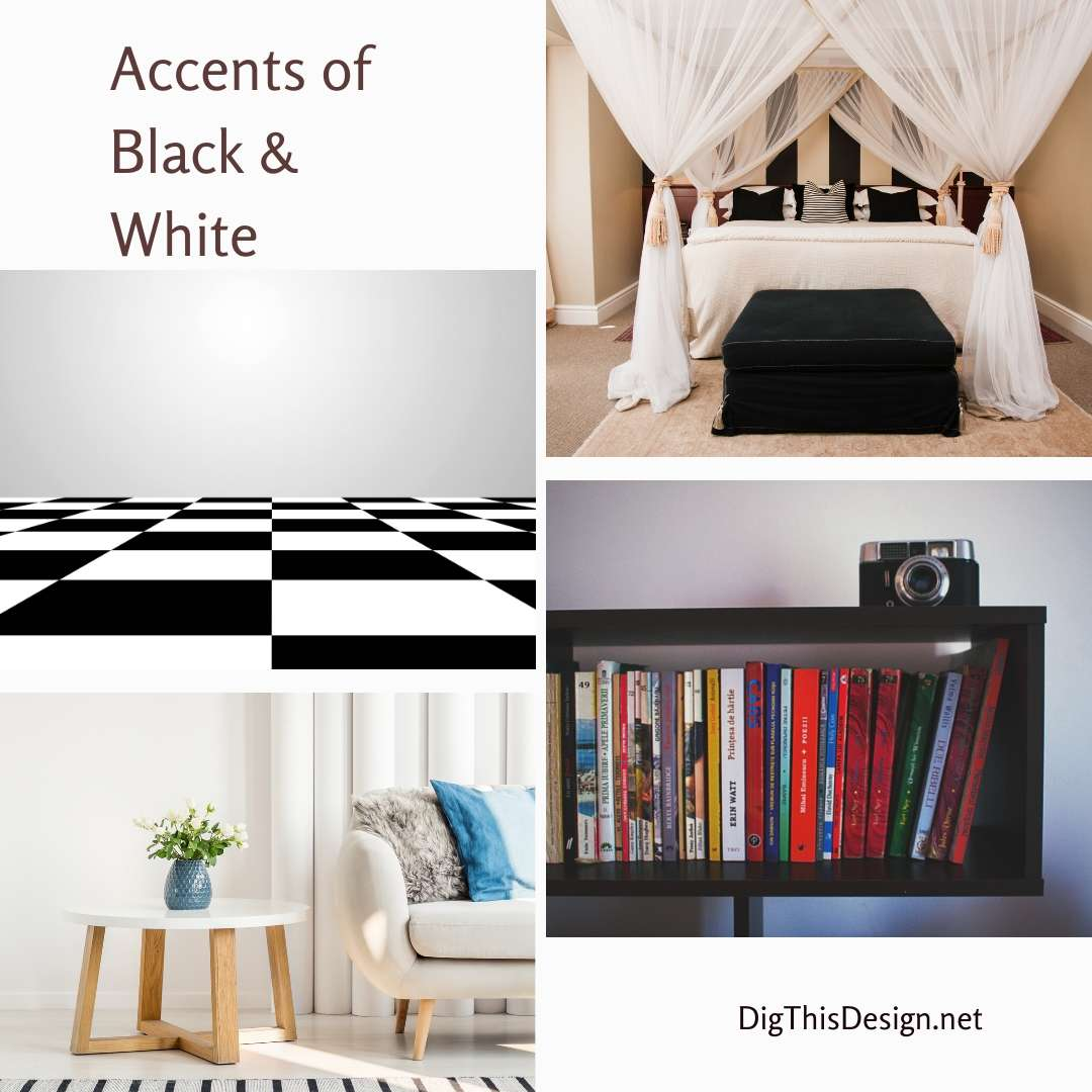 Accents of Black & White Home Decor