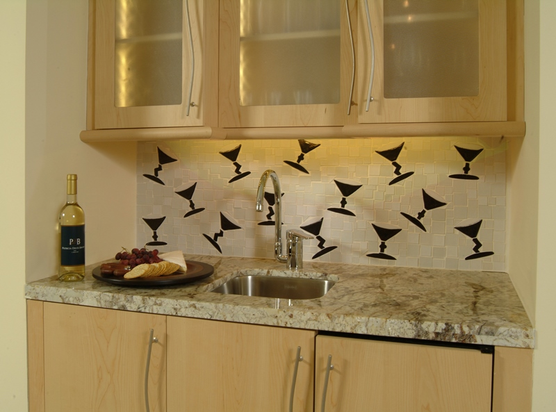 Martini backsplash tile