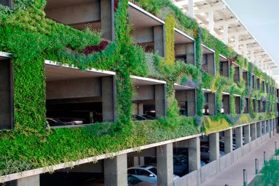Green Parking Design - Green parking garage