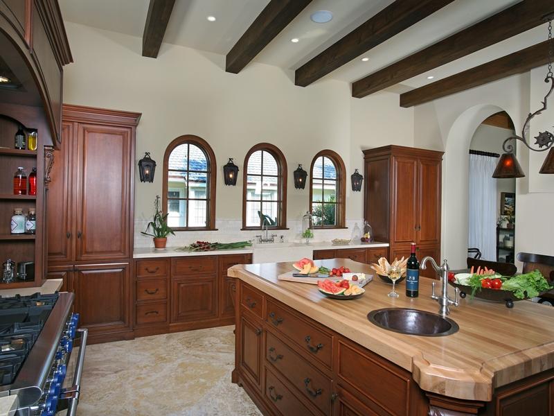 Home Design - Mediterranean windows in a kitchen.