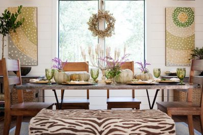 Fall Décor - Using mixed metals for fall decor.