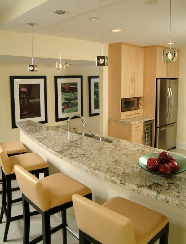 Kitchen Design Trends - A layered lighting plan is best for a kitchen.