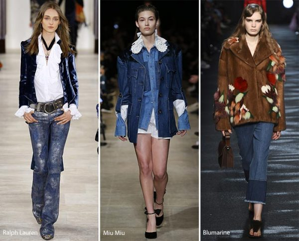 Cowgirl Style - Layered denim is fashionable for 2017.