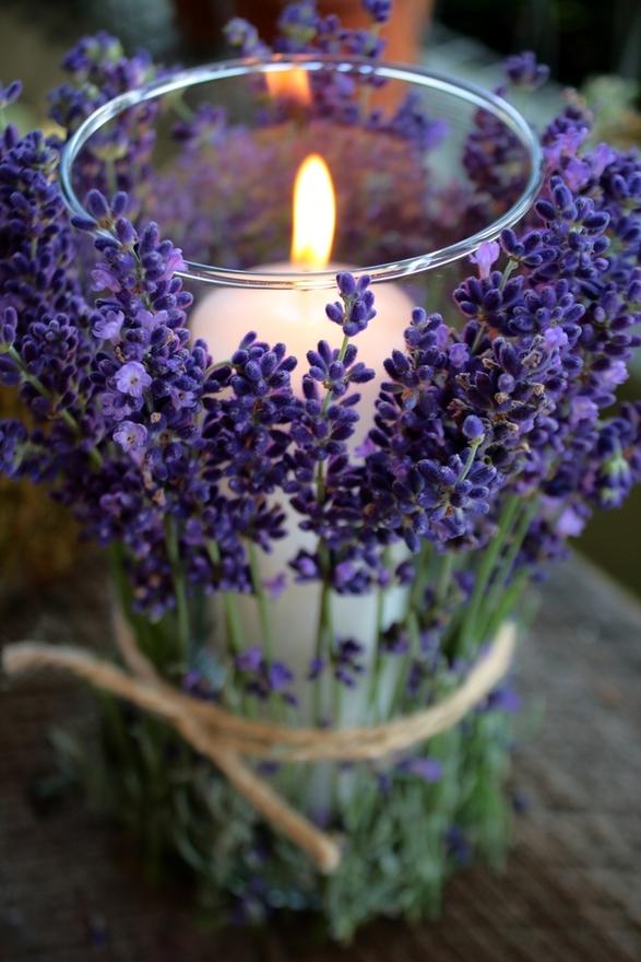 Spring decor ideas - candles