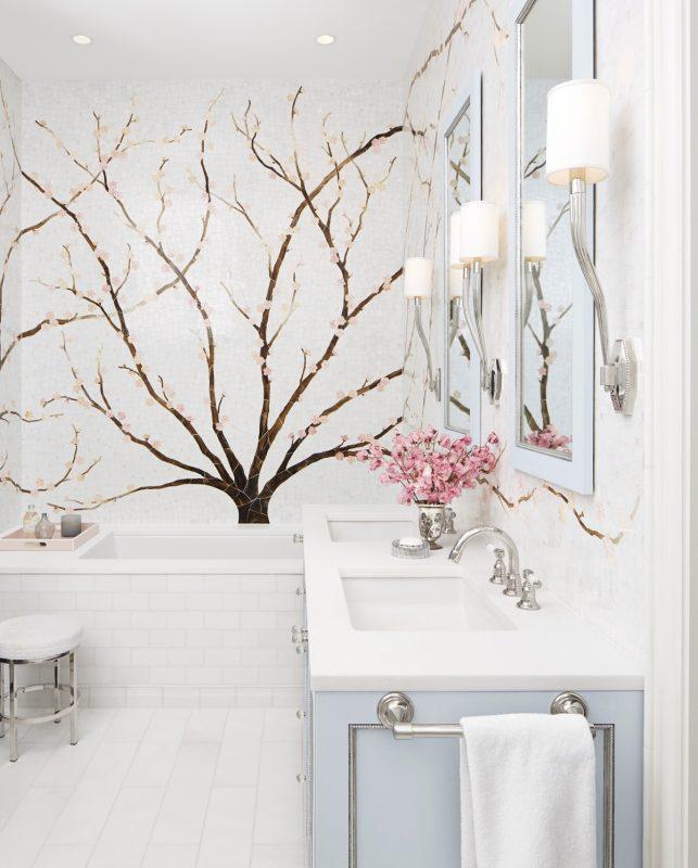Spring decor ideas - cherry blossom mural