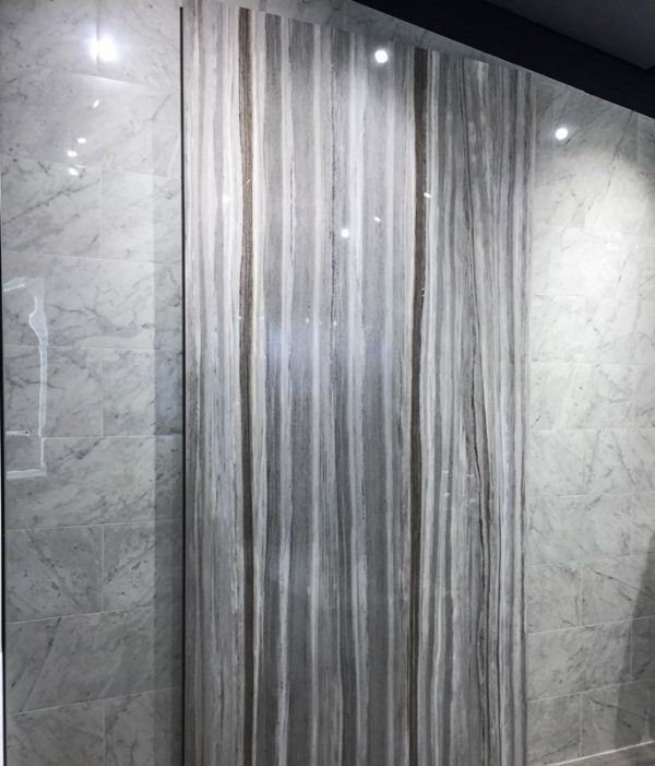 Home Design - Digital imagery of marble applied to porcelain.