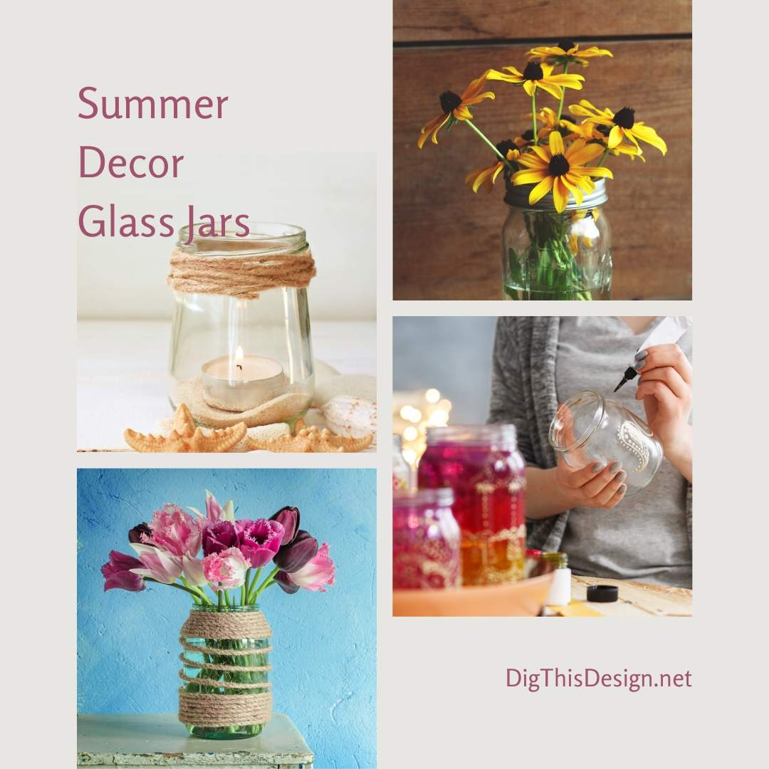 Summer Décor with Glass Jars