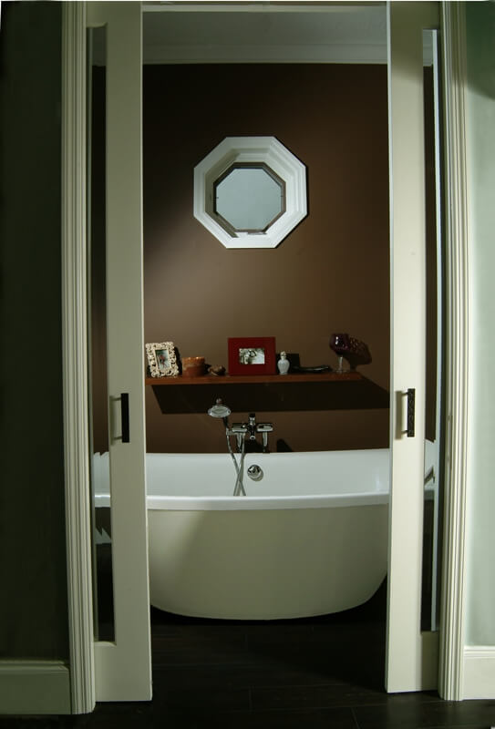Home Design - The port hole window lets light end while maintains privacy to a room, like a shower or tub room.