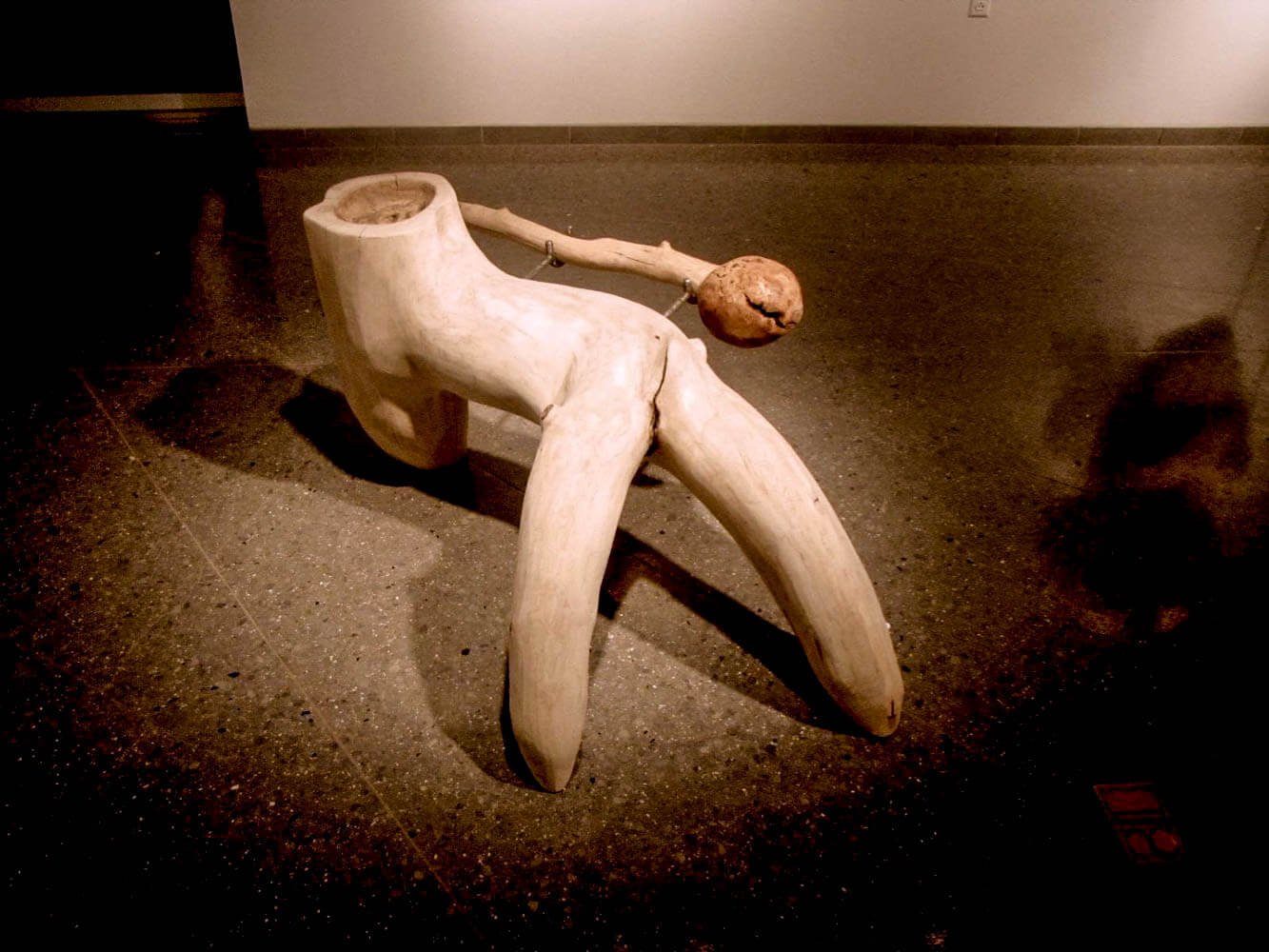 Tripod Mortar by sculptor Steven Dolbin.
