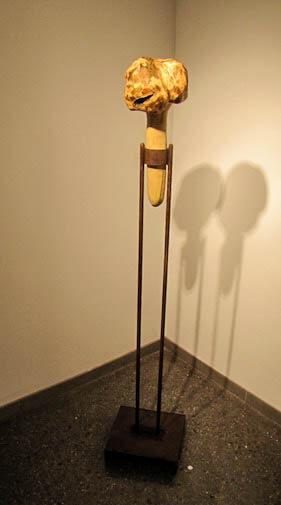 Burl Rattle by sculptor Steven Dolbin.