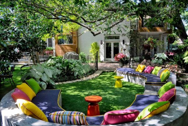 Outdoor Living - Create ample types of seating for a great outdoor living design.