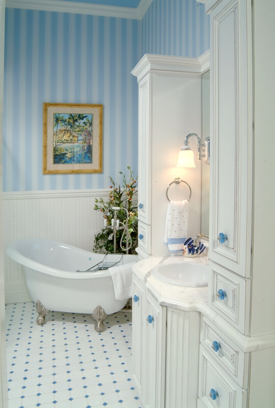 Bathroom Design that stands the test of time has lots of storage.