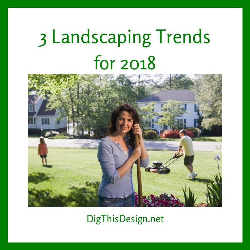 3 Landscaping Trends for 2018
