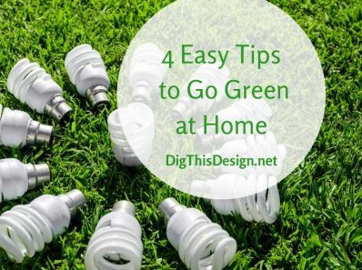 4 Easy Tips to Go Green at Home