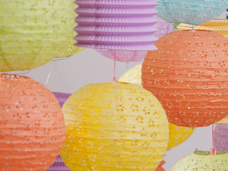 DIY Lighting Upgrade Paper Lampshades