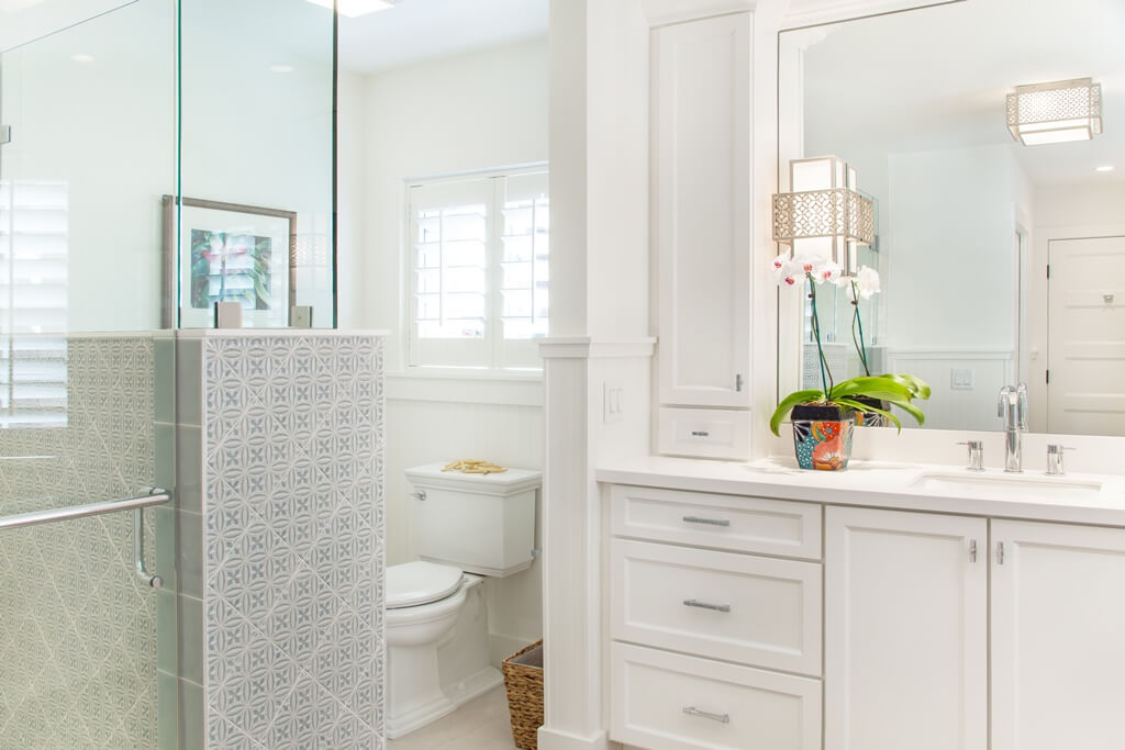 A bathroom transformation that created more functionality.