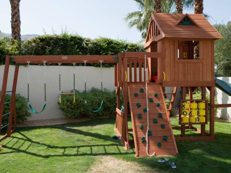 Outdoor space play area