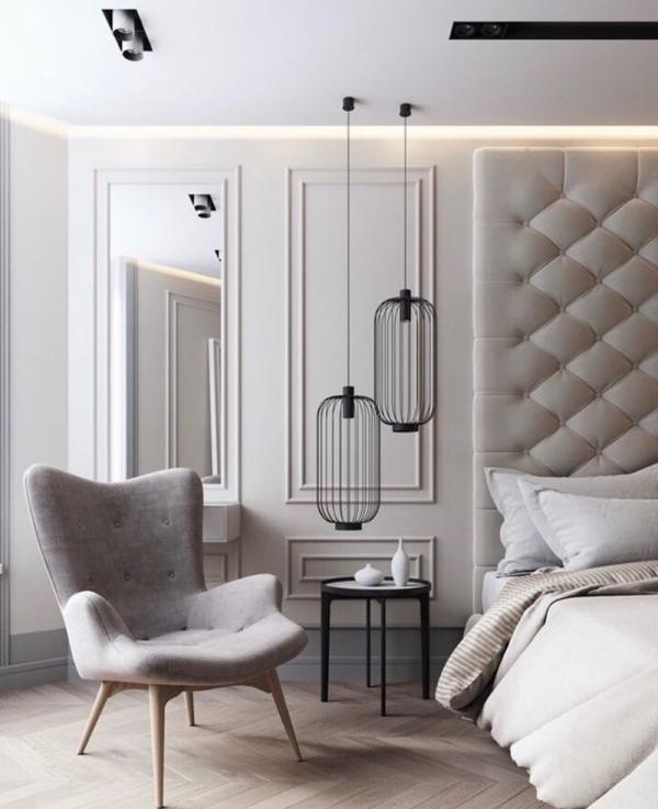 Natural light color bedroom walls