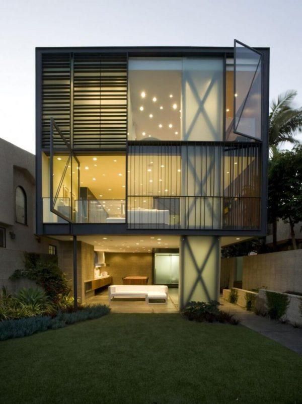 Natural light glass walls
