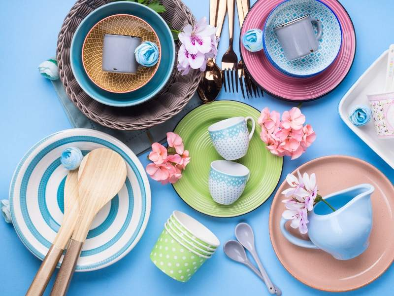 Mix and match dinnerware