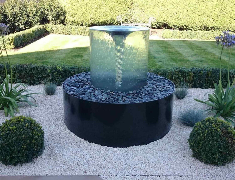 Designing water vortex water fountain