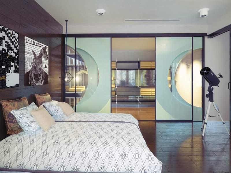 Glass Designs on Interior Doors