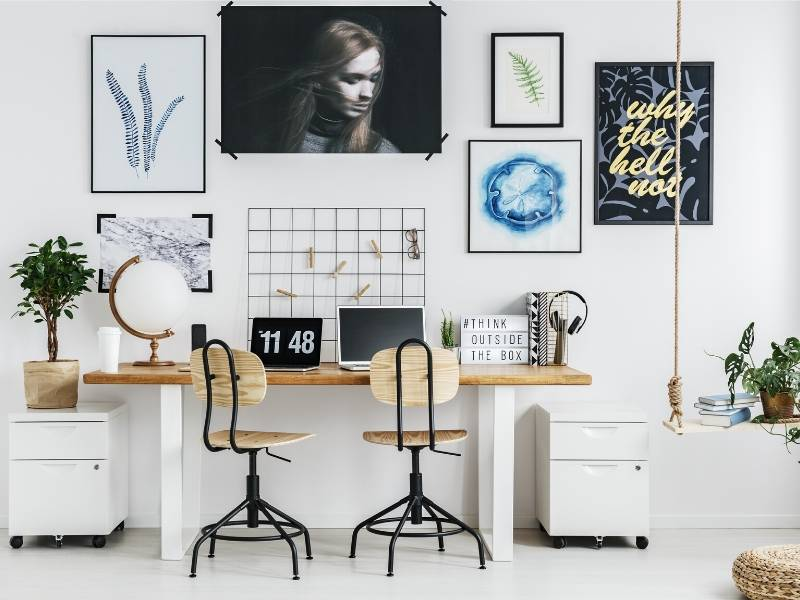 4 Steps To Design A Unique Small Office In Your Apartment Dig This Design