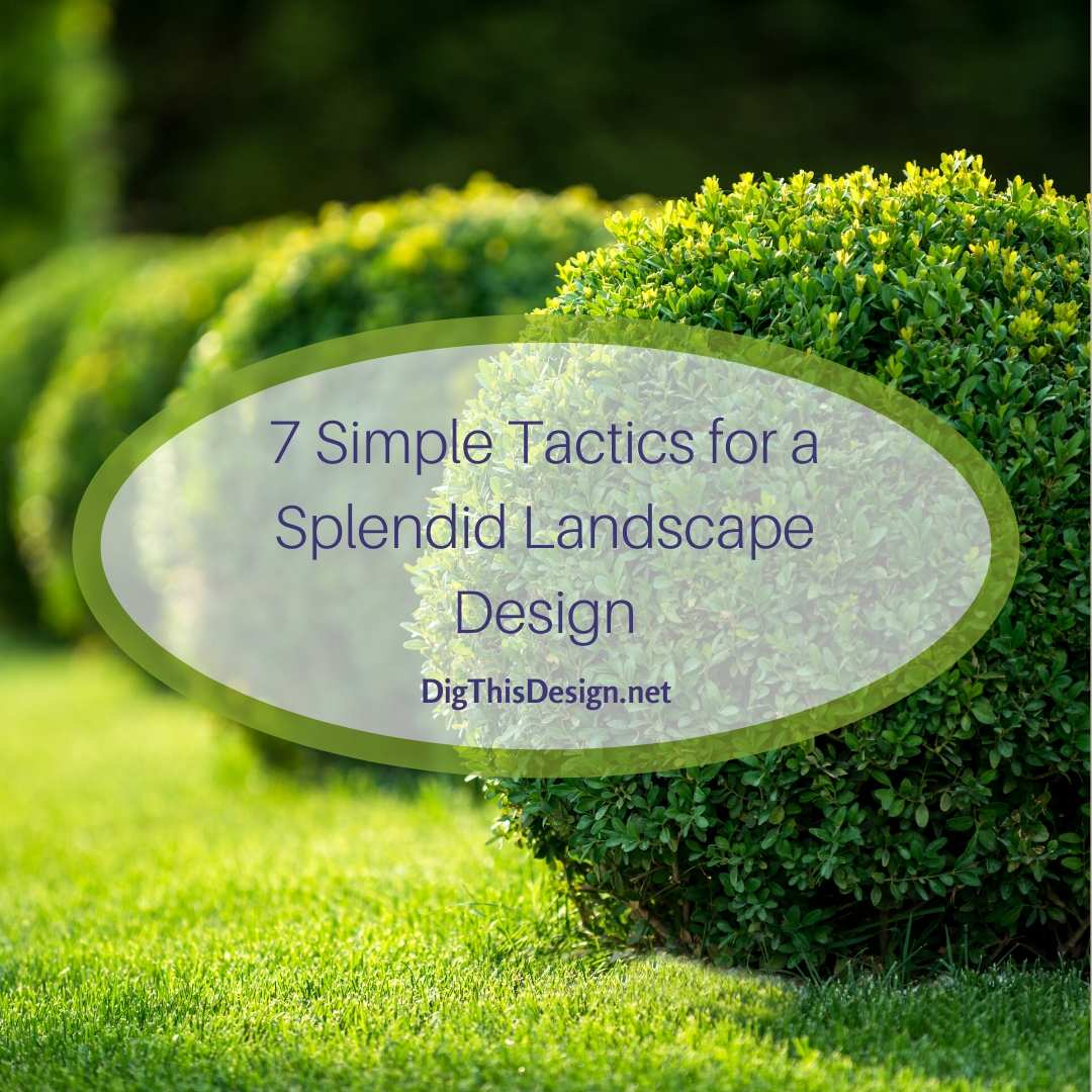 7 Simple Tactics for a Splendid Landscape Design