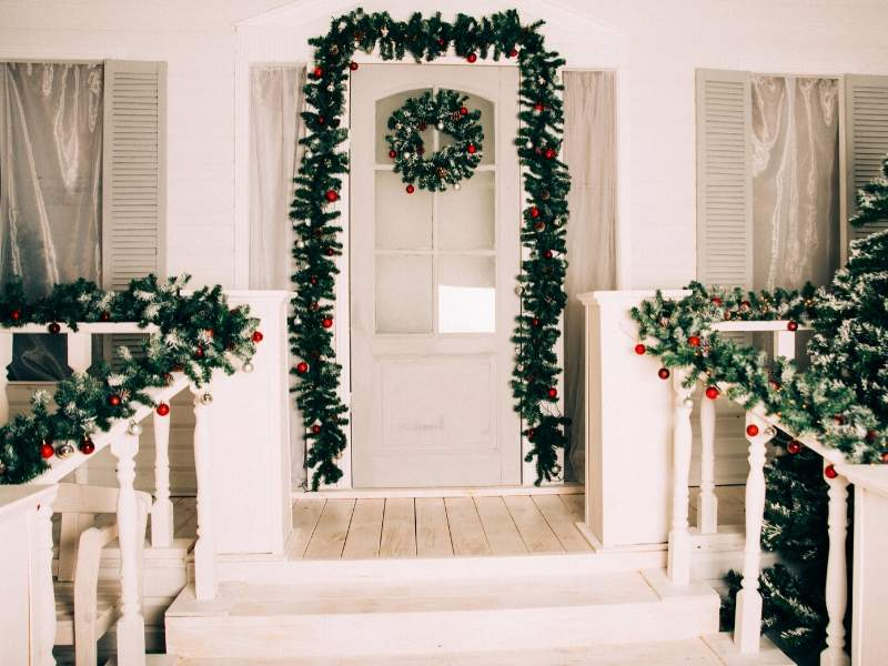 Hang Festive Garlands on Gates and Fences