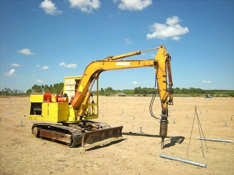 Screw piling equipment