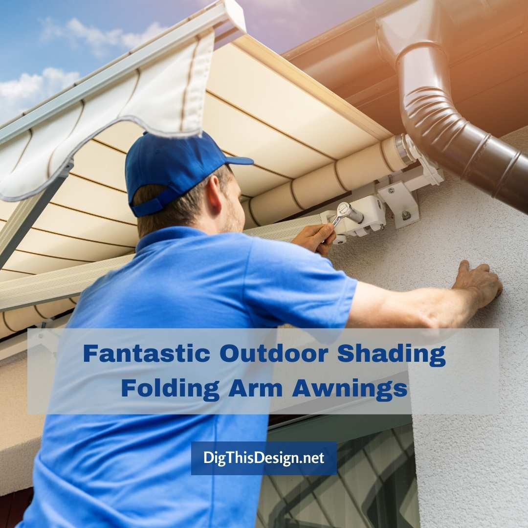 Fantastic Outdoor Shading Folding Arm Awnings