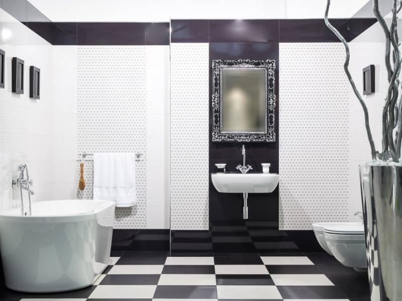 Black and White Floors for Walkways Affects Human Behavior