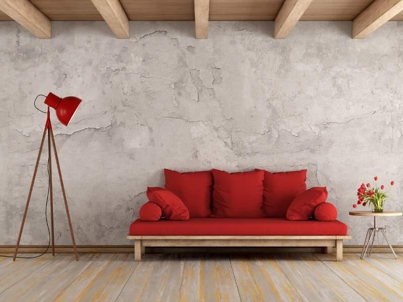 Cinnamon Red Sofa