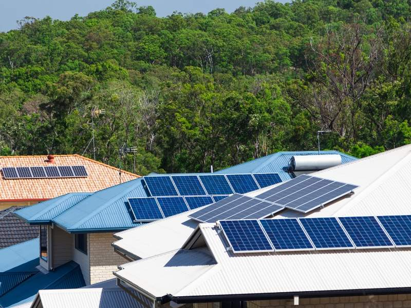 Solar roofs for green energy